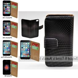 For Apple iPhone Series - 3D Block Wave Print Wallet Mobile