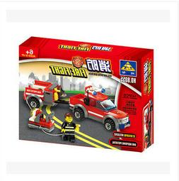 Building block fire series 8055 puzzle assembled toy fire tr
