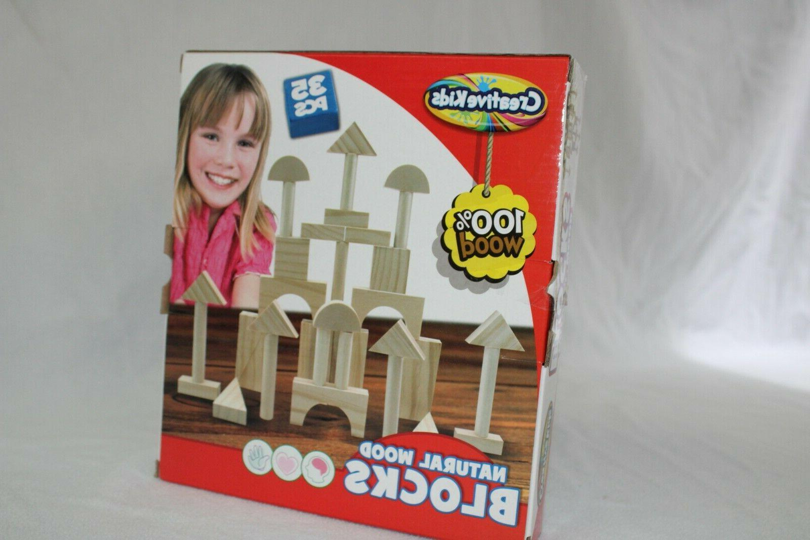 3 plus natural wood blocks includes one