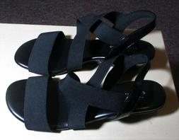 "Women's COMFORT PLUS Black ""Margo"" Sandals Size 7 US, 38.5 E"
