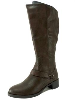 Easy Street Women's Jewel Plus Riding Boots Brown Size 5.5 M