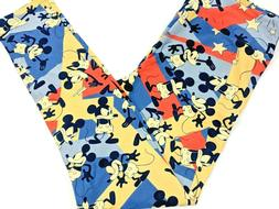 Lularoe Womens Disney Leggings TC 12-18 Yellow Blue Color Bl